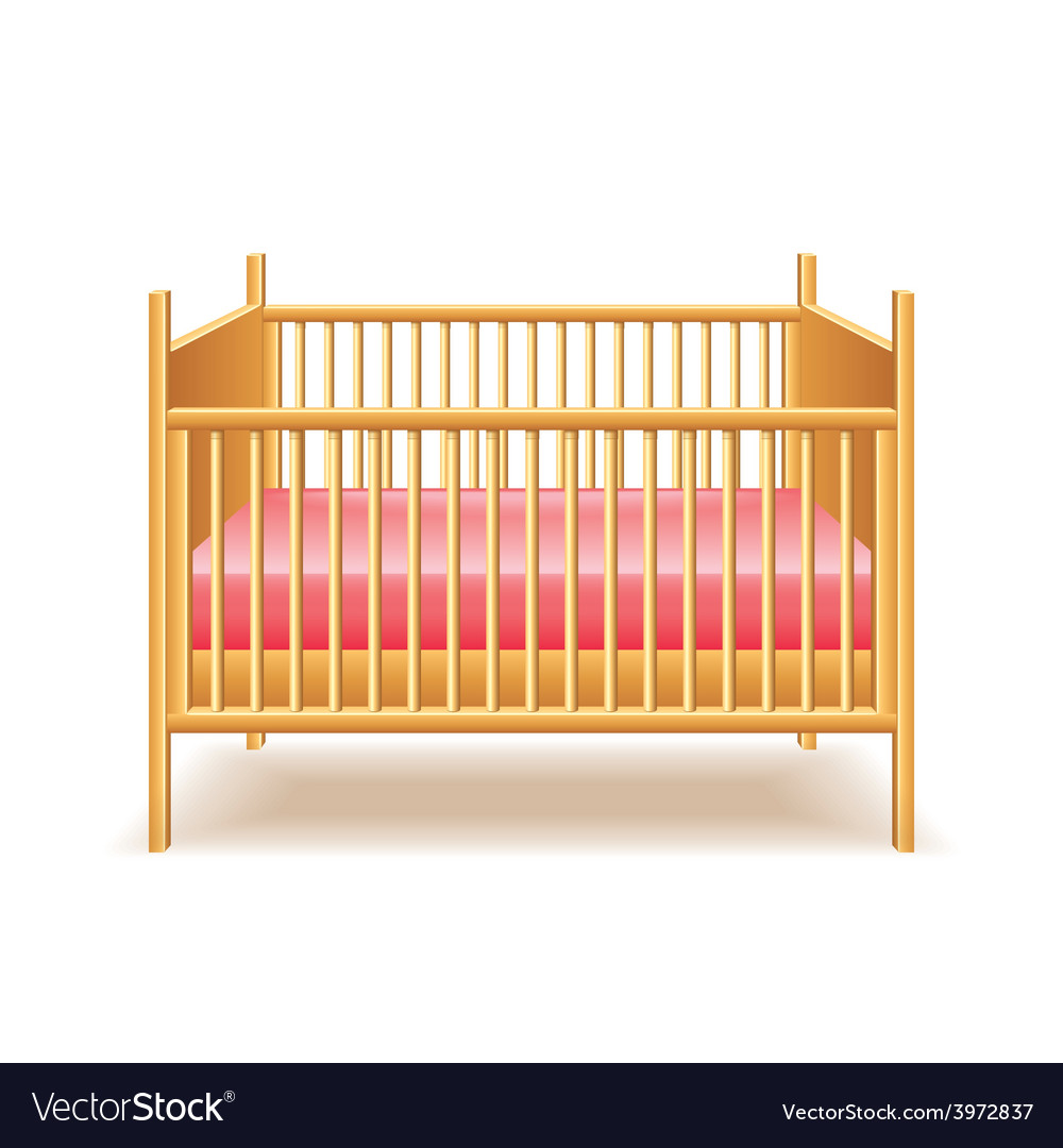 871f204e7794 Baby bed isolated Royalty Free Vector Image - VectorStock