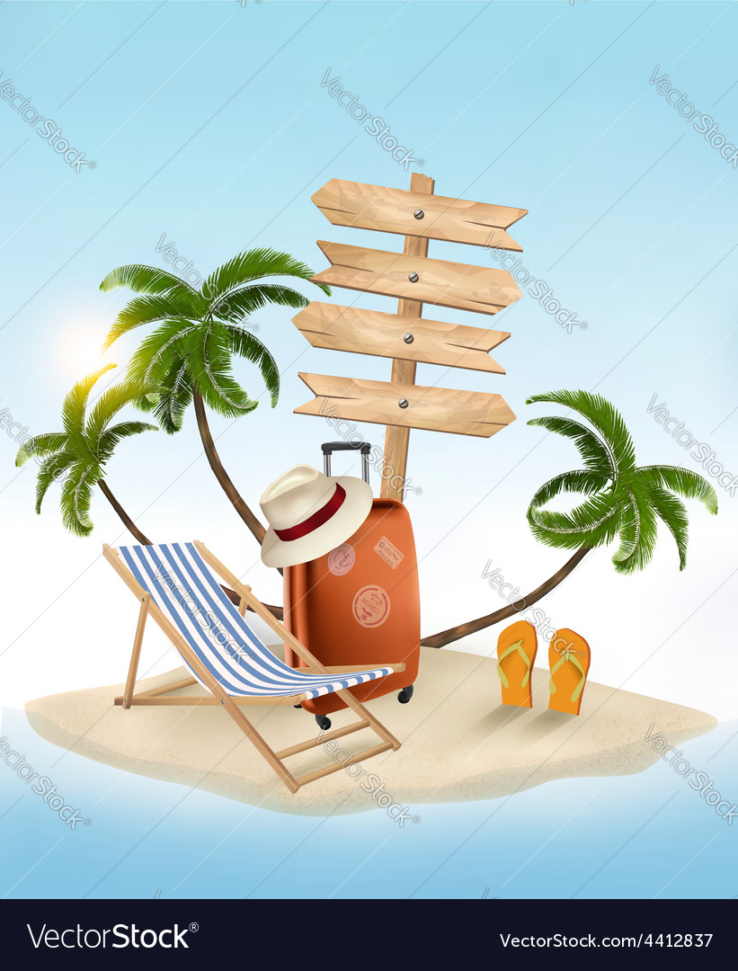 Pleasant Beach With A Palm Tree Wooden Sign And A Beach Download Free Architecture Designs Licukmadebymaigaardcom