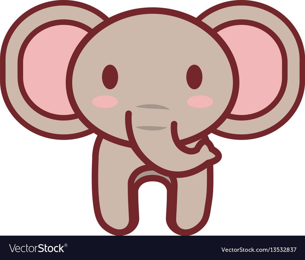 Cartoon elephant animal image vector image