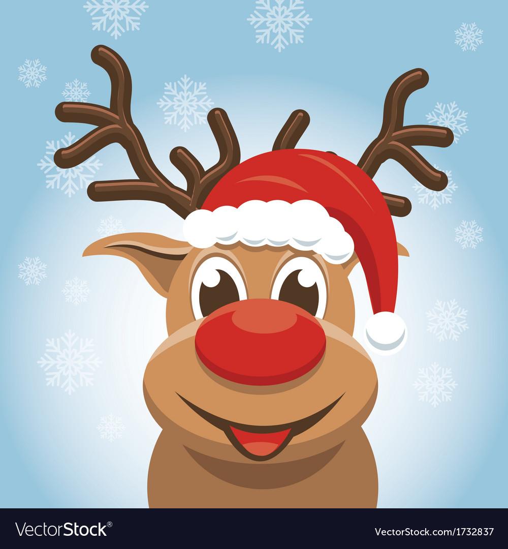 christmas reindeer rudolph deer royalty free vector image