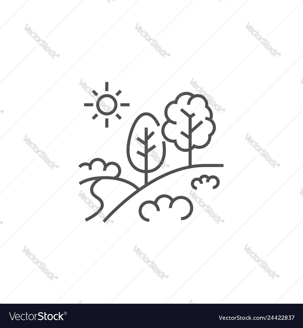 Landscape related line icon