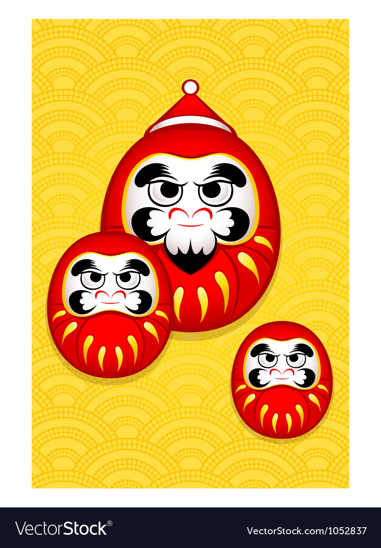 Nengajo New Year card vector image