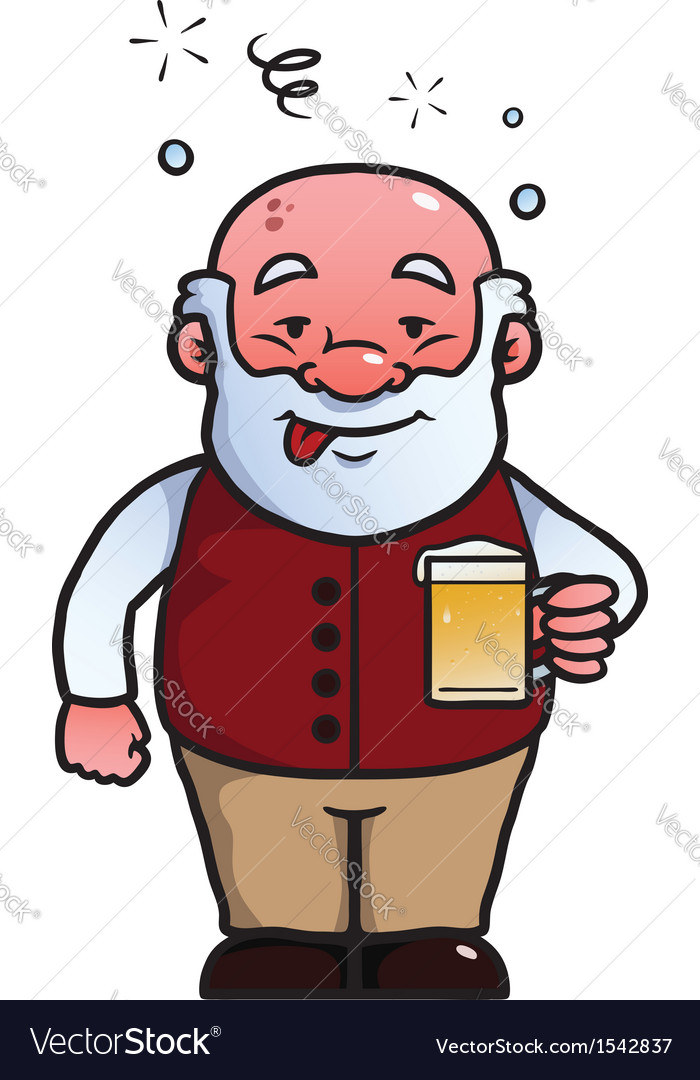 Old man being drunk