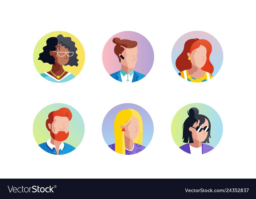 Set avatars icons