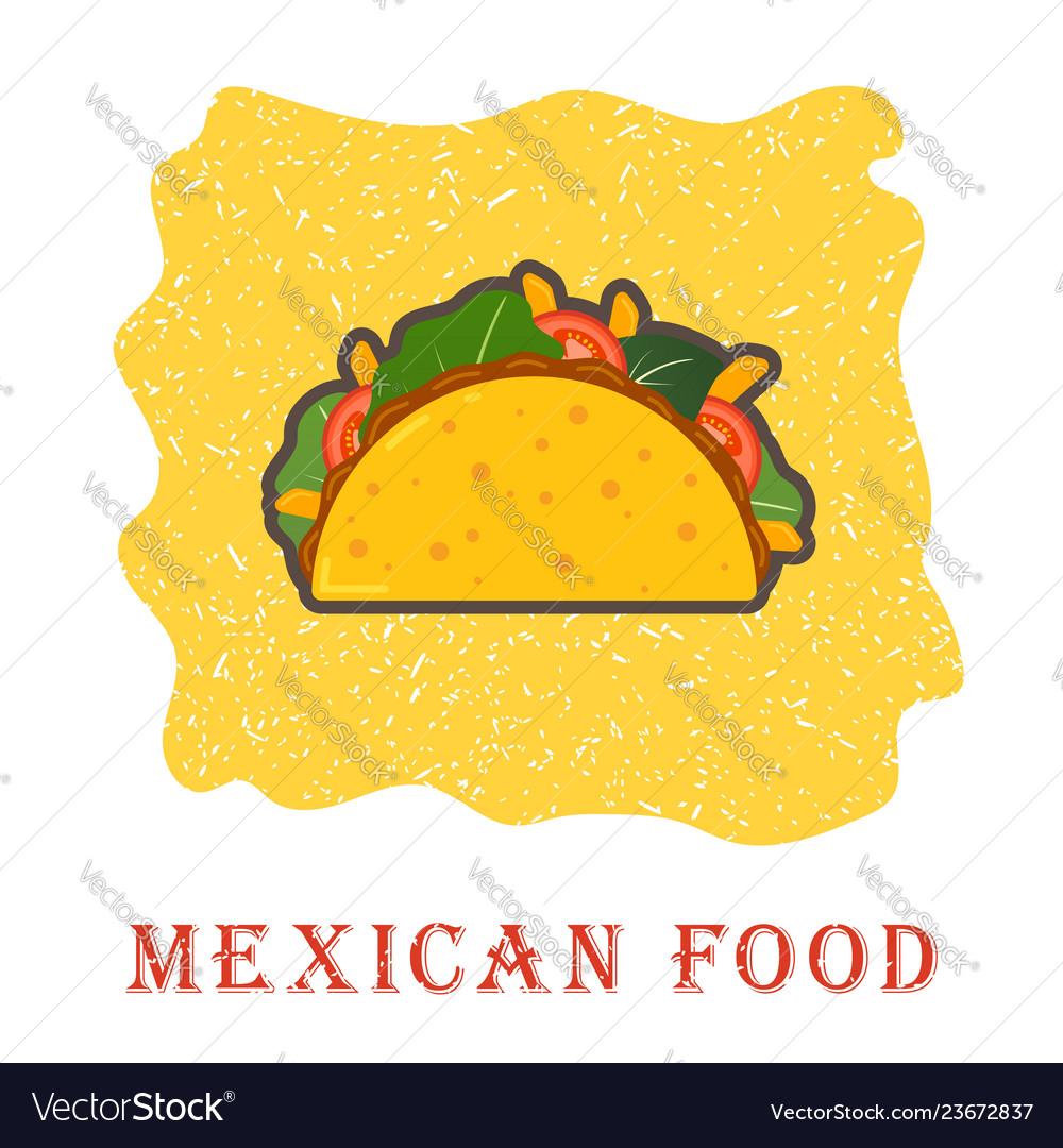 Traditional mexican taco spicy delicious tacos