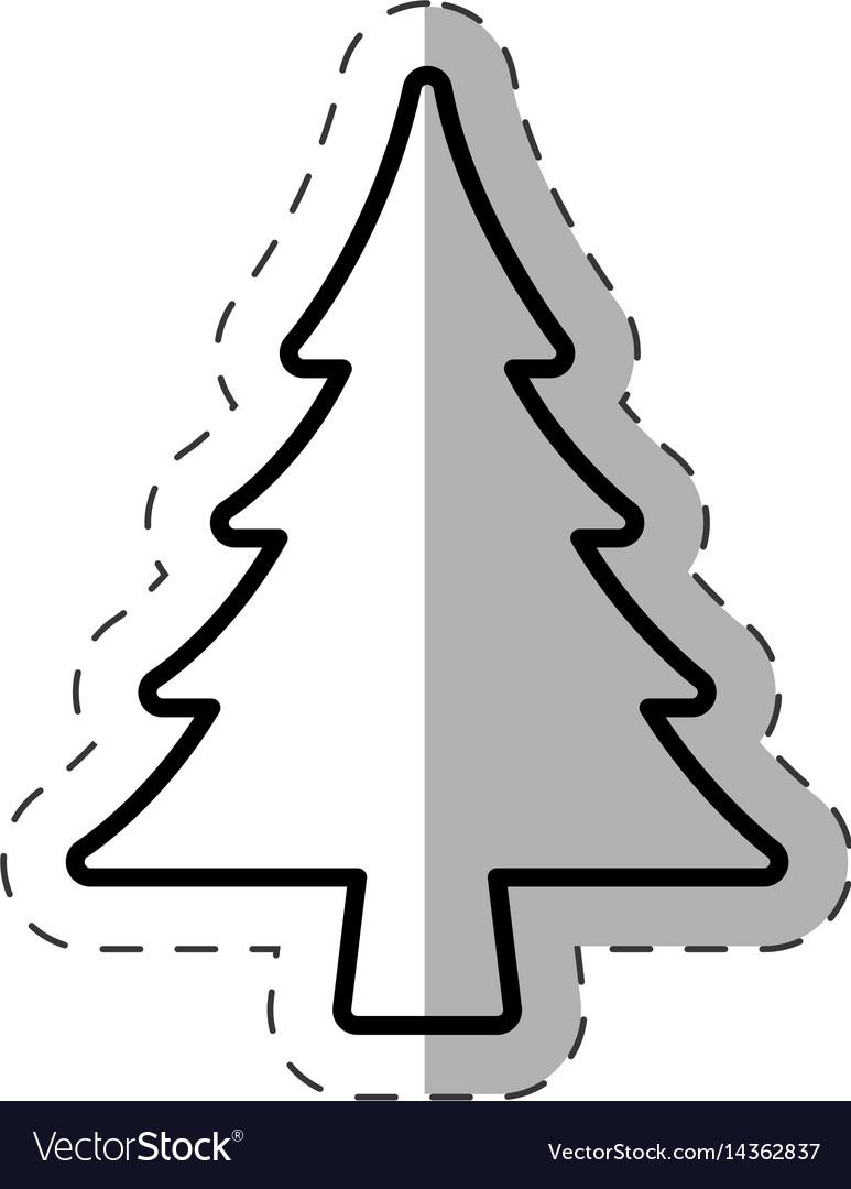 Tree pine christmas decoration line