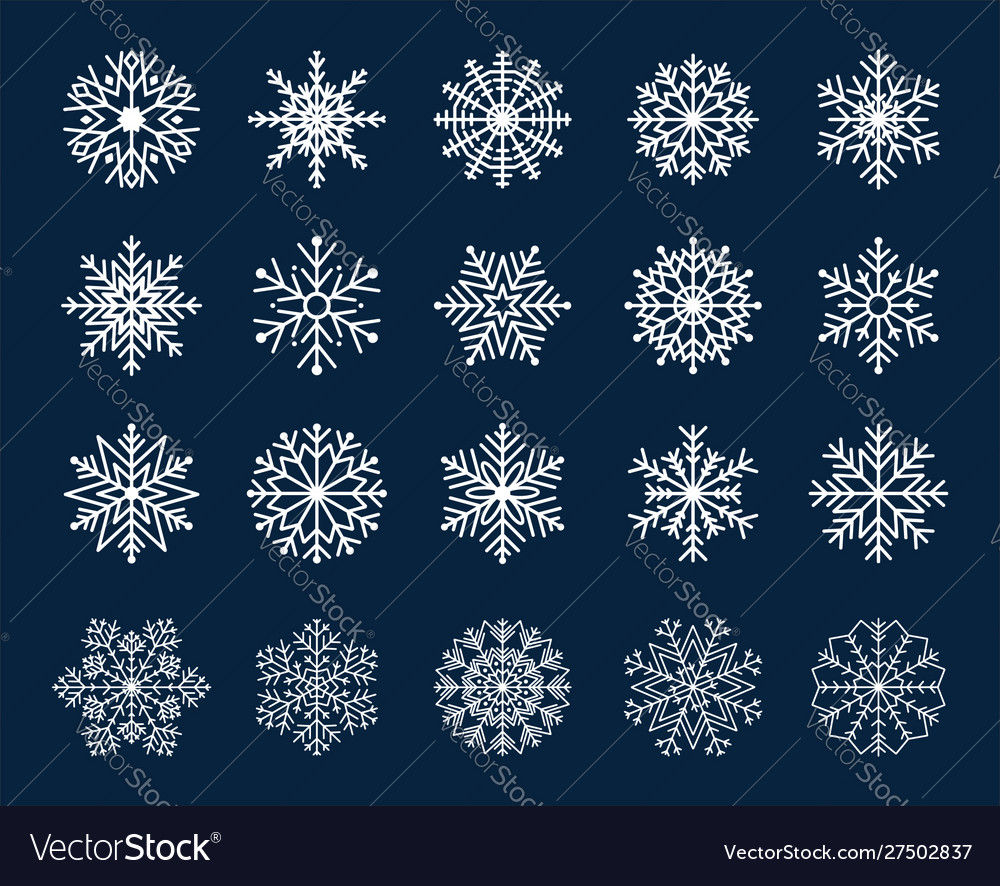 Winter snowflakes icon