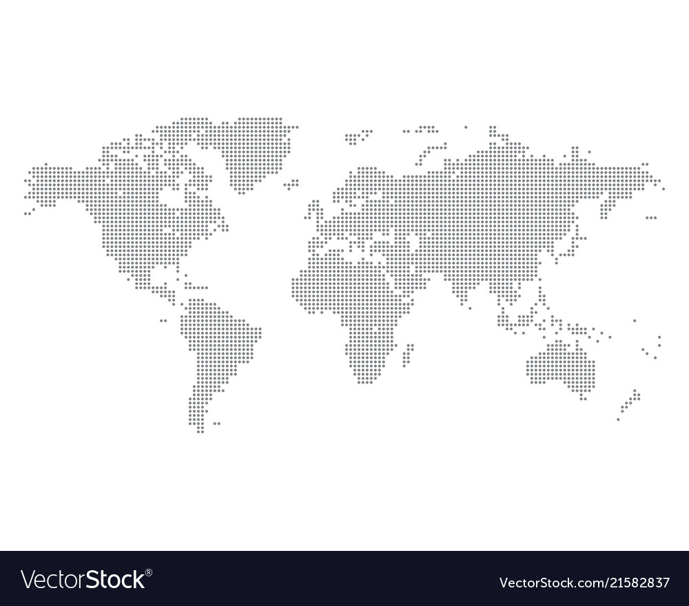 World map made of gray dots royalty free vector image world map made of gray dots vector image gumiabroncs Images