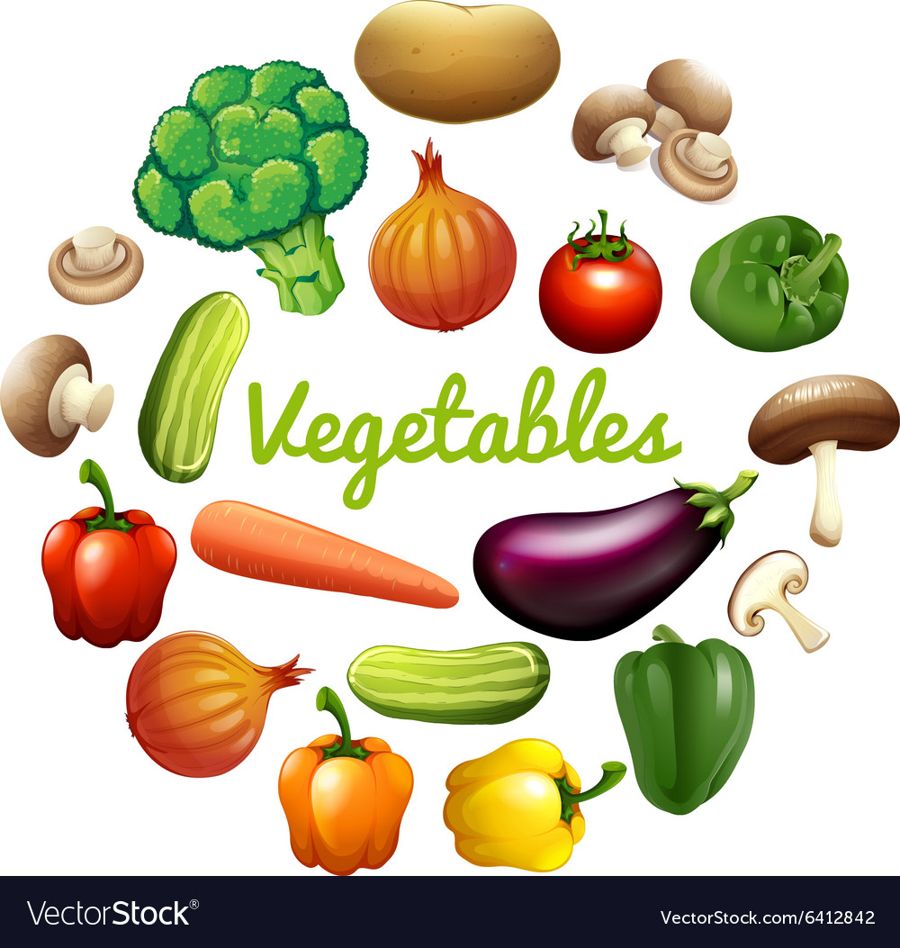 Banner Design With Fresh Vegetables Royalty Free Vector