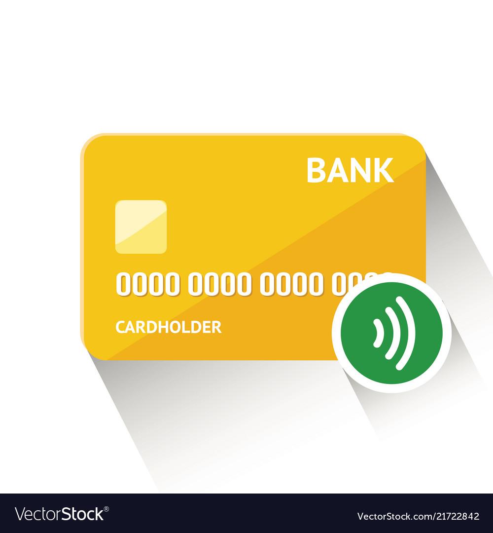 Detailed golden credit card