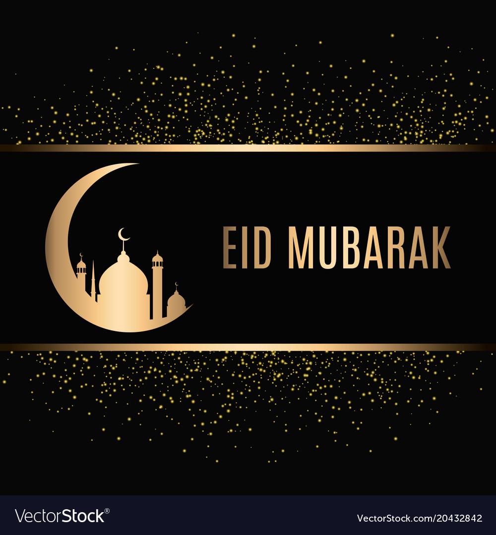 eid mubarak design background royalty free vector image
