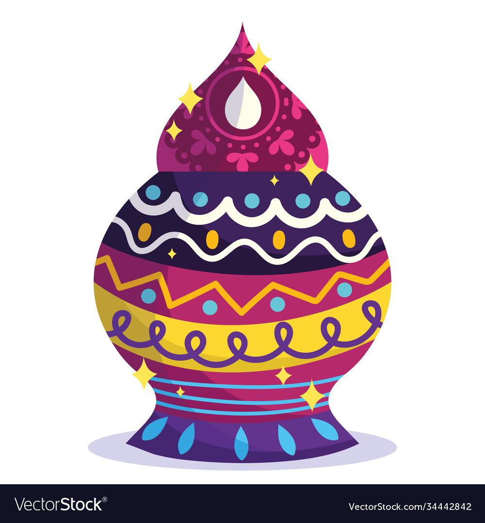 Happy diwali festival ornament decoration