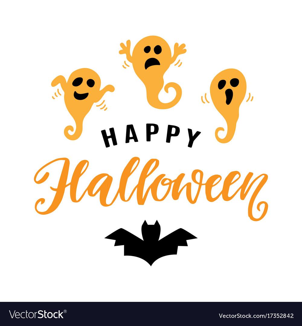 Happy halloween typography poster