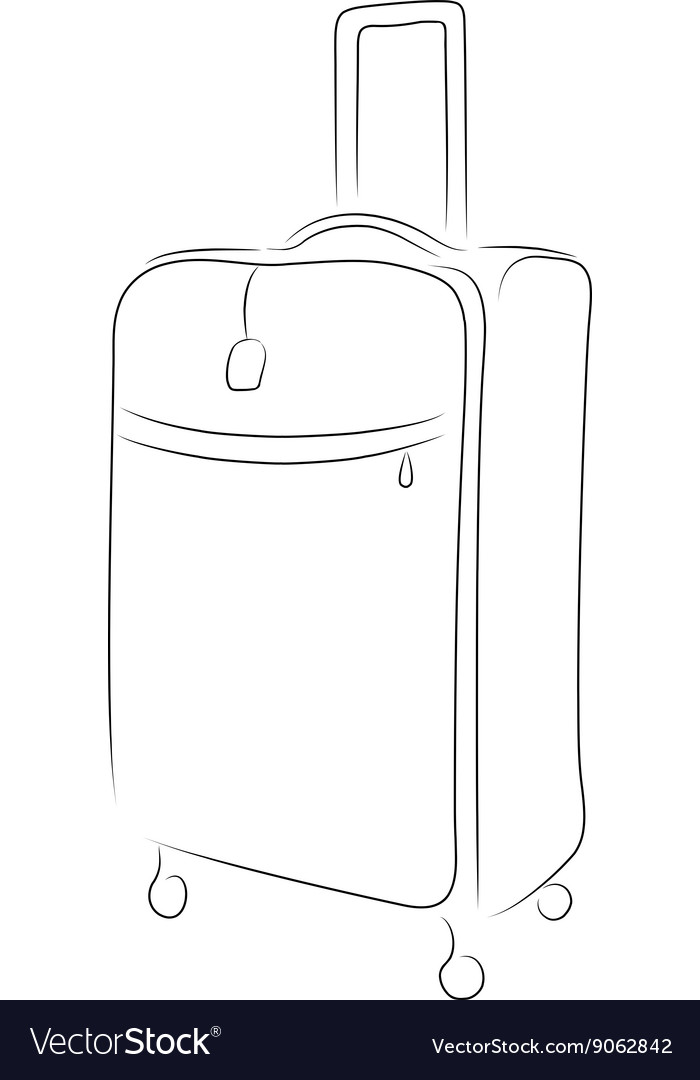 Outline of suitcase