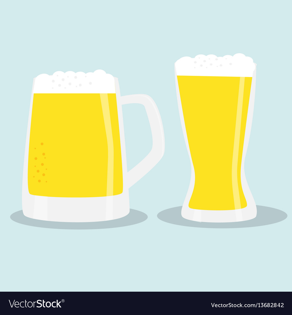 Two glasses of beer color