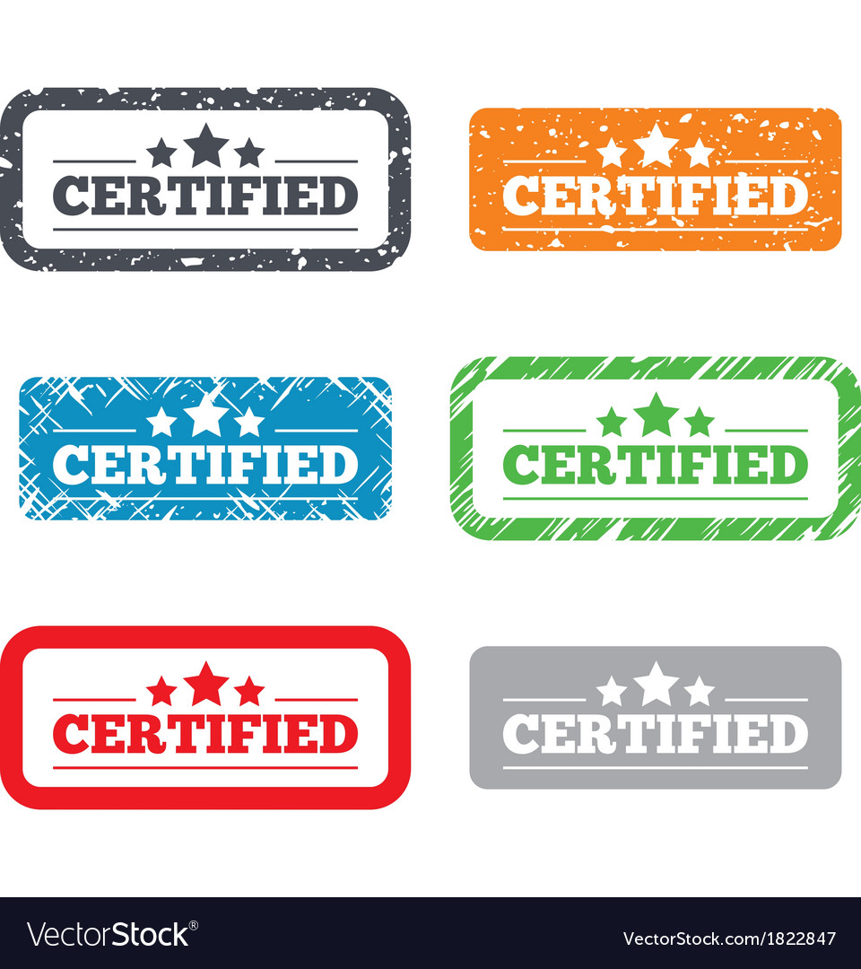 Certified sign icon Checked symbol vector image