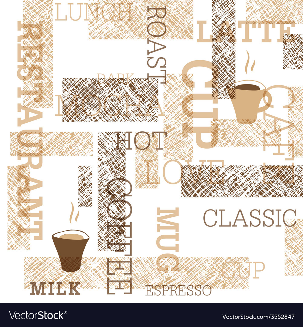 Coffee themed seamless background