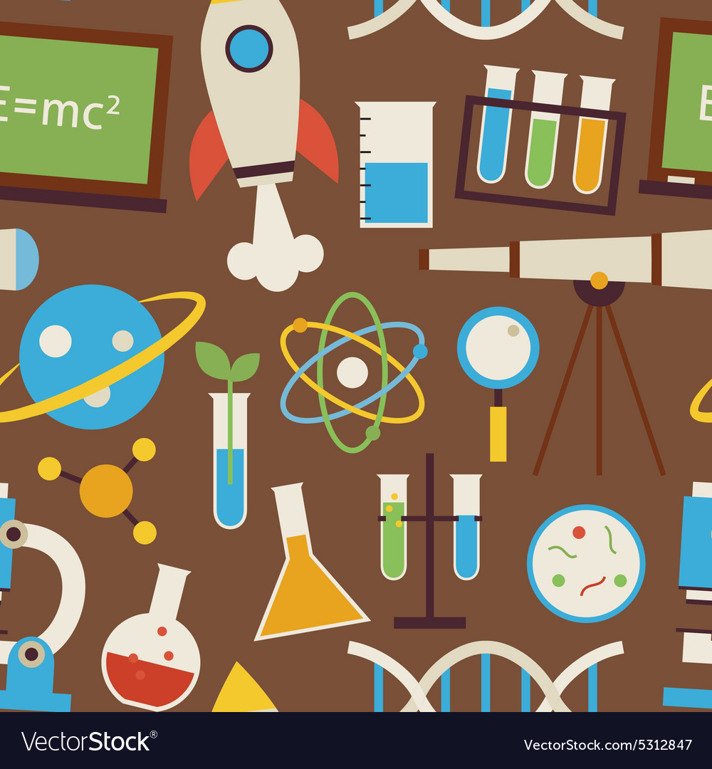 Flat Seamless Pattern Science and Education