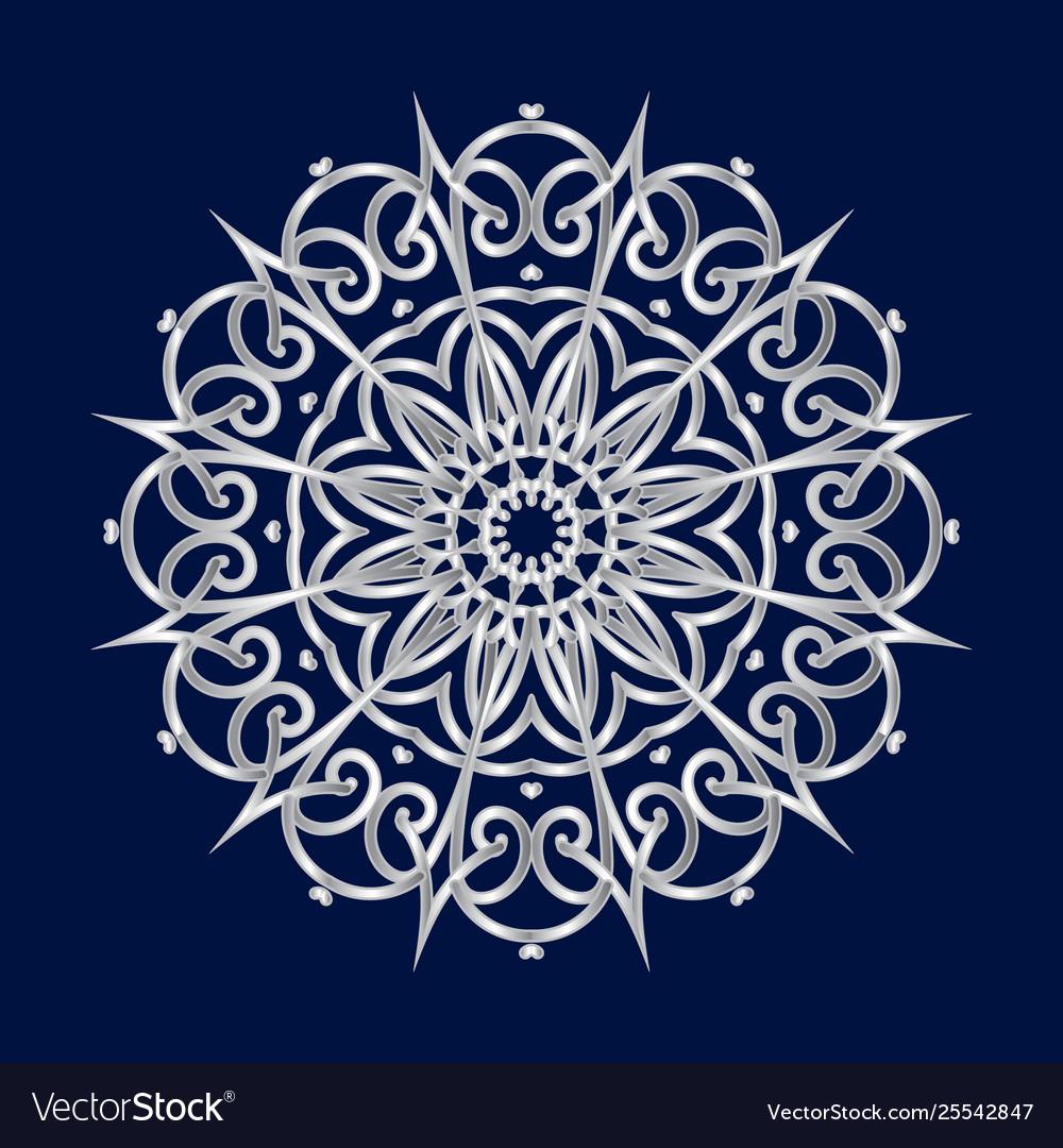 Floral round decorative symbol ethnic decorative