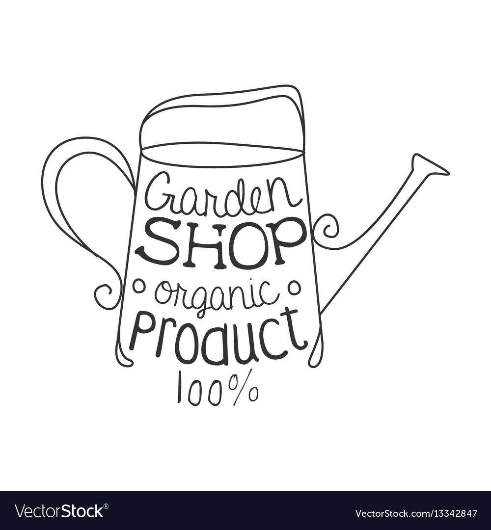 Garden shop 100 percent organic product black and