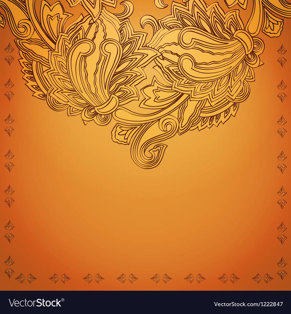 Indian Henna Background Royalty Free Vector Image