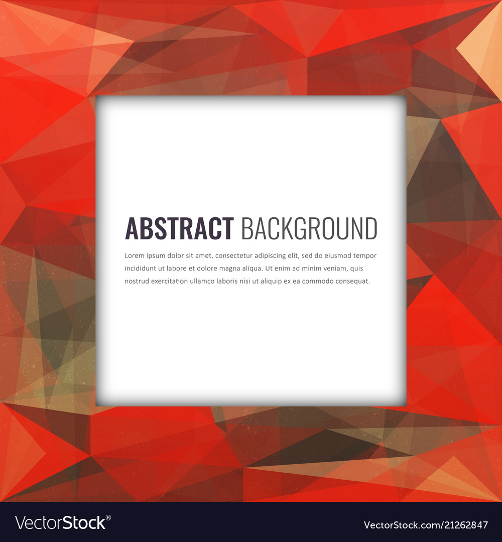 Polygonal background with abstract multicolored