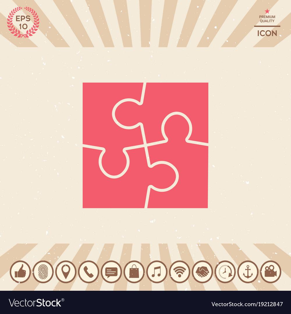 Puzzle symbol icon