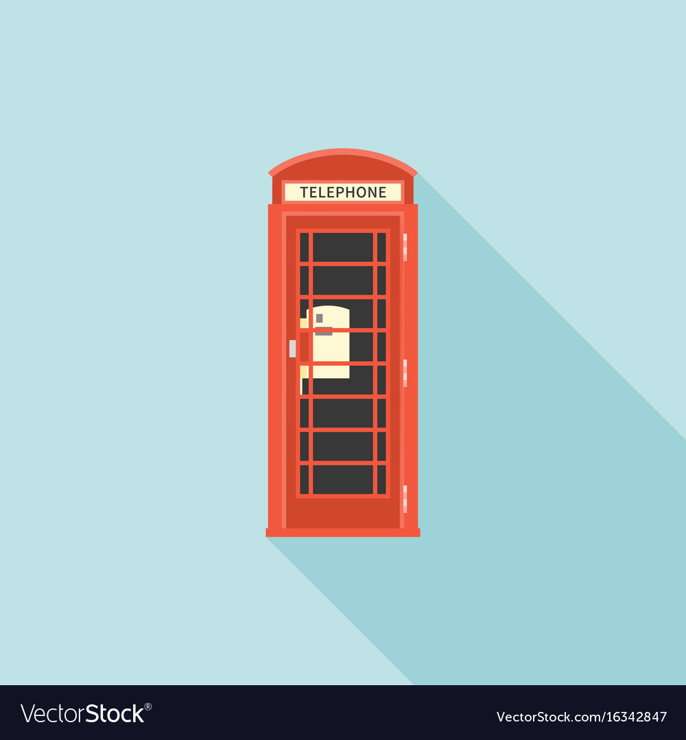 Red telephone box of london