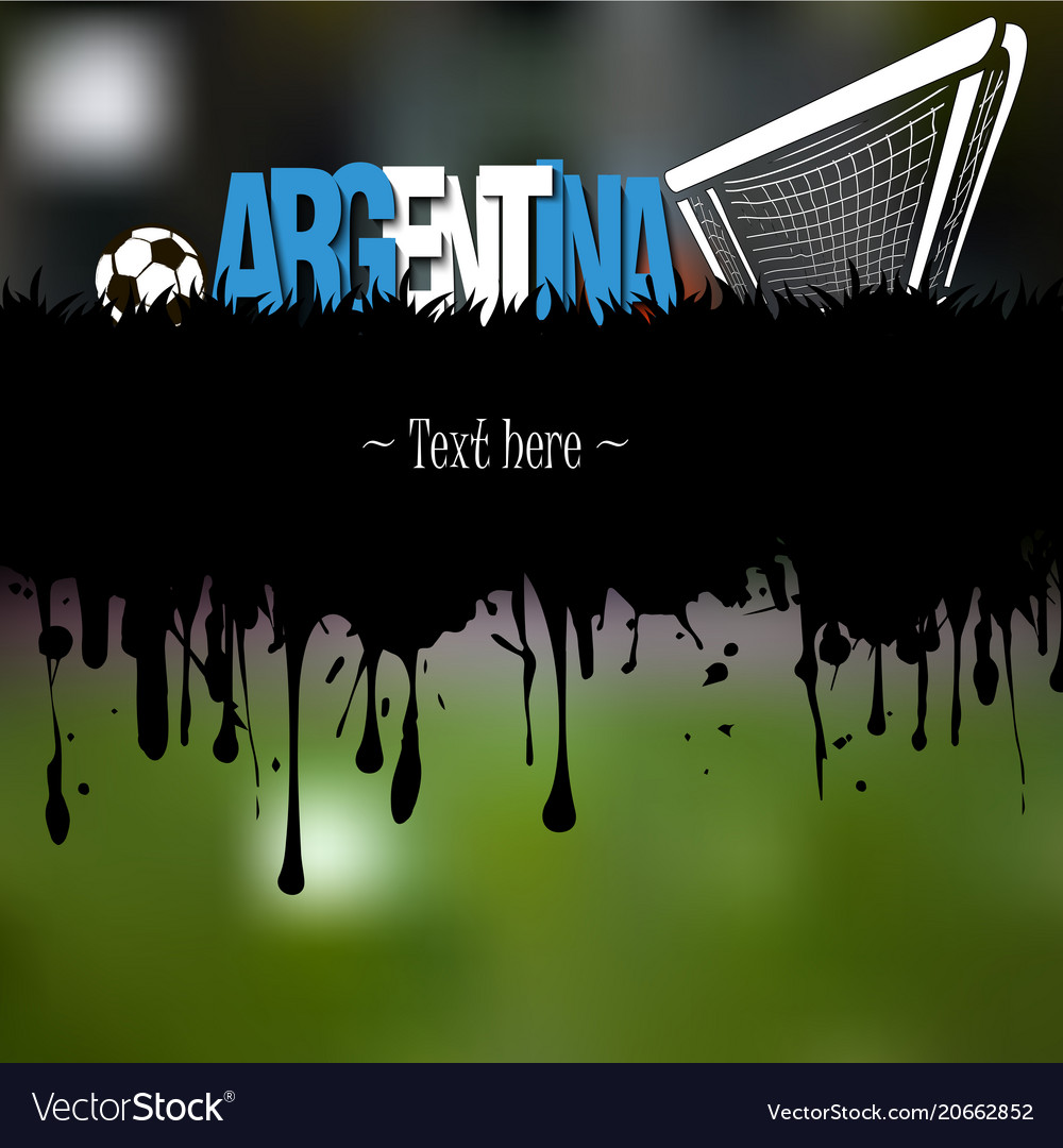 Argentina with a soccer ball and gate