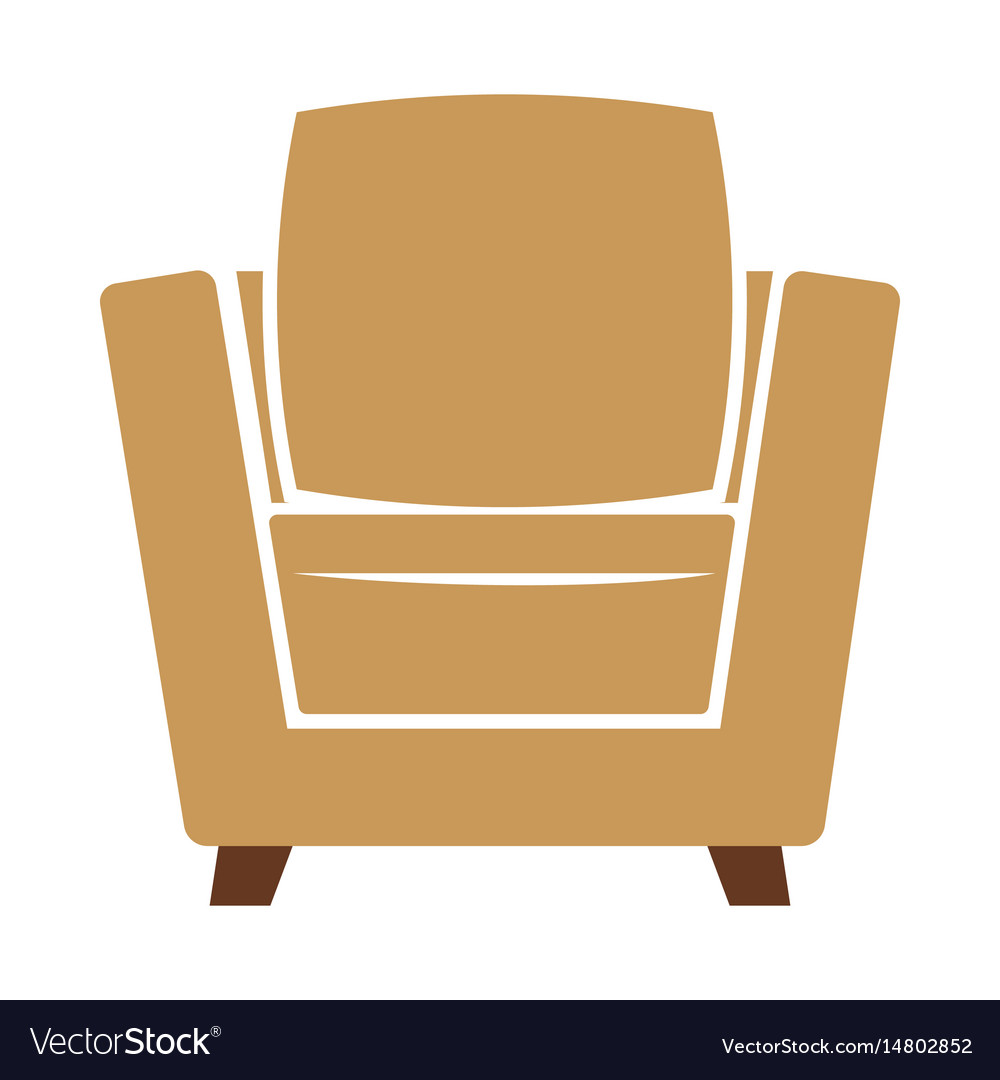 Armchair icon isolated on