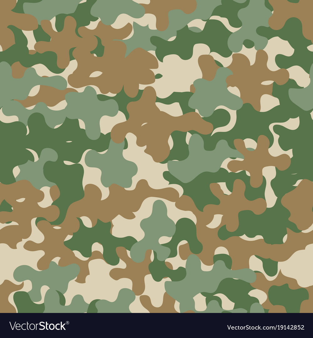 Camouflage seamless pattern military background vector image