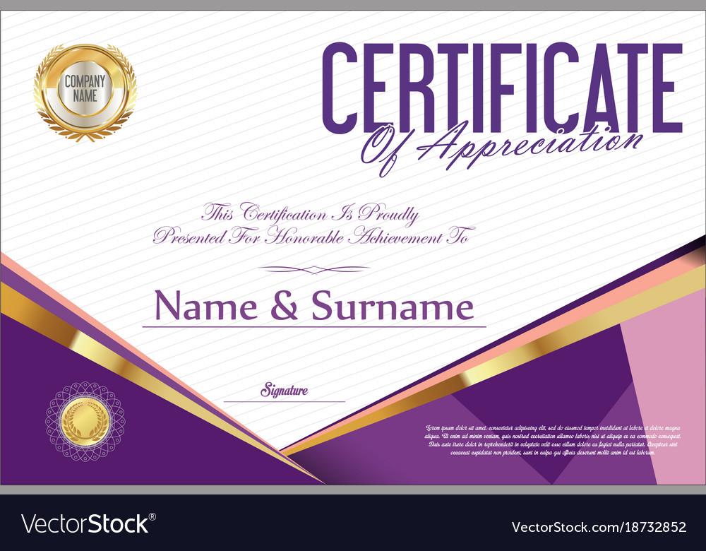 Certificate retro design template 14