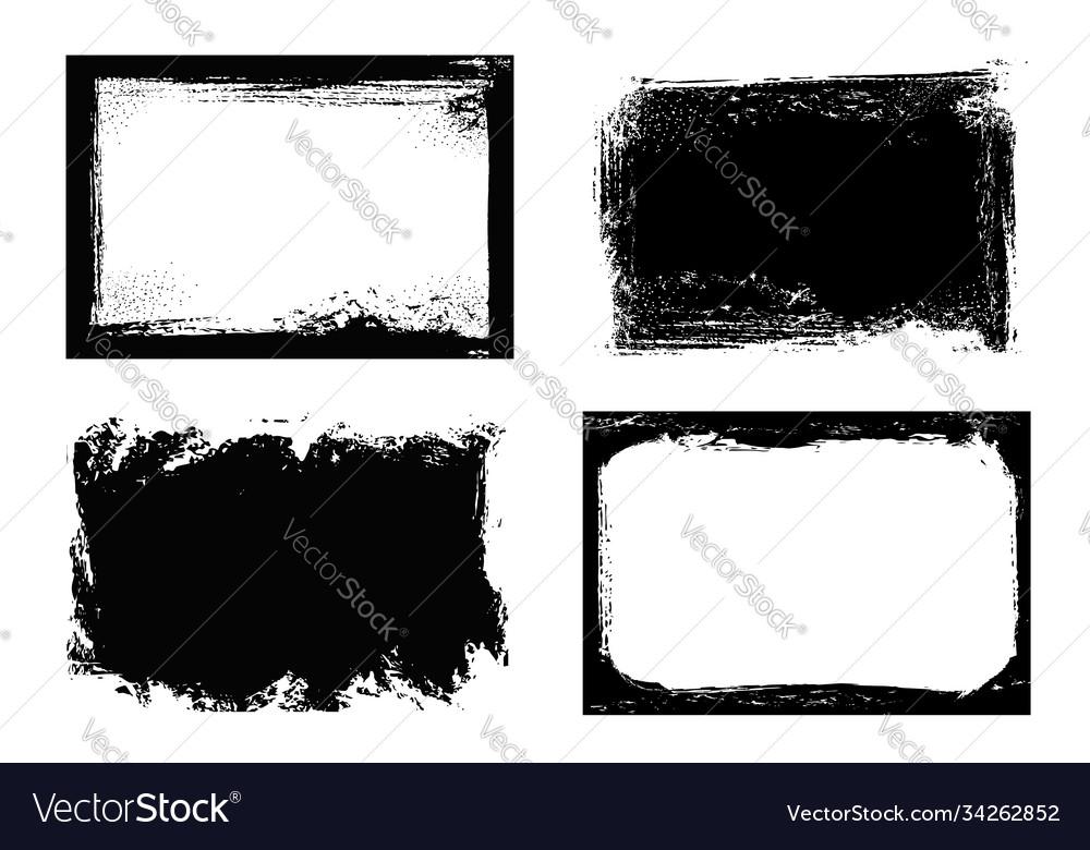 Grunge frames isolated rectangular borders