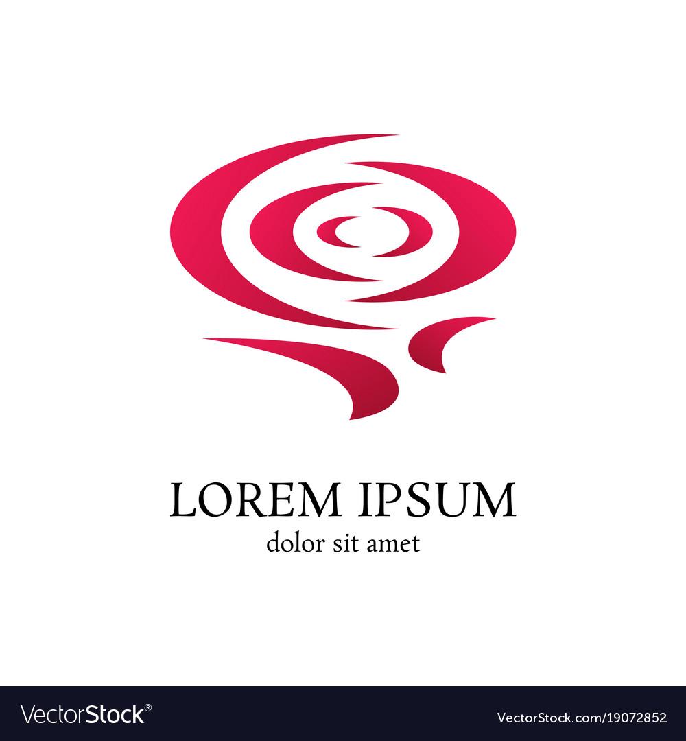 Rose curve logo design template vector image