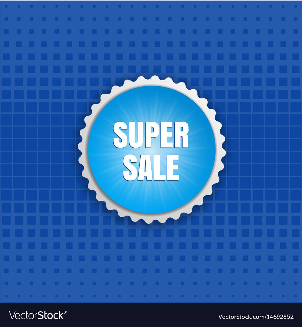 Super sale round sticker color banner vector image