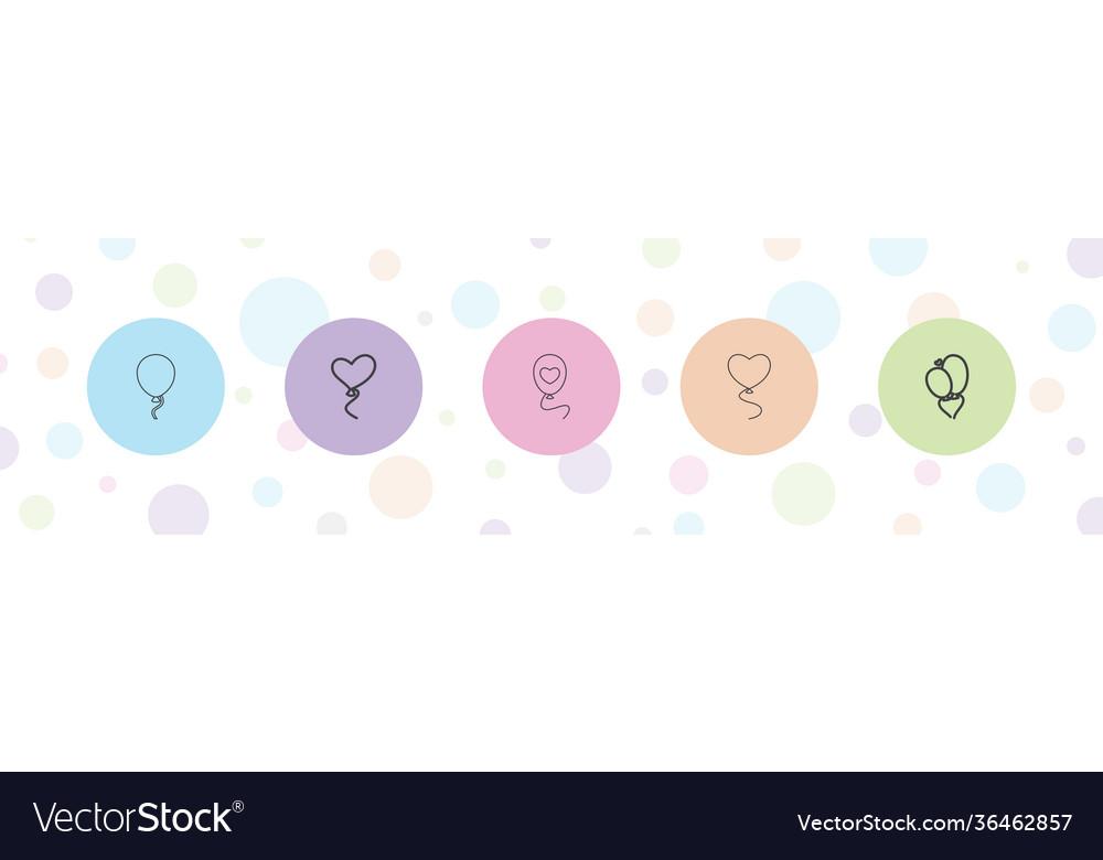 5 ballon icons
