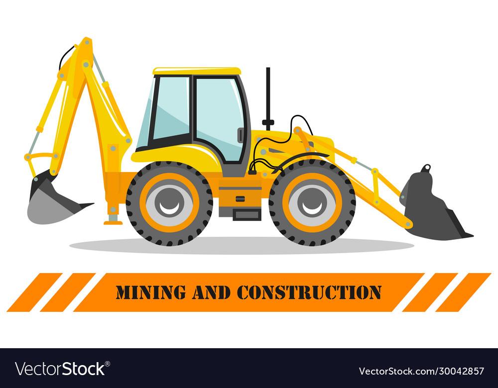 Backhoe loader detailed heavy mining machine