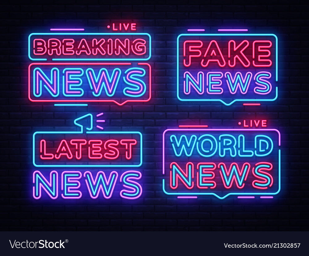 Breaking news collection sign design