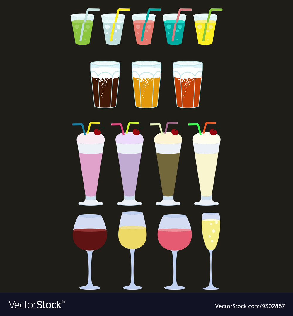 Collection of drinks Drink icons