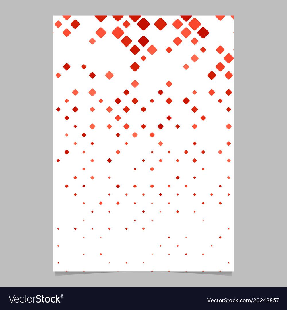 Geometric diagonal square mosaic pattern brochure