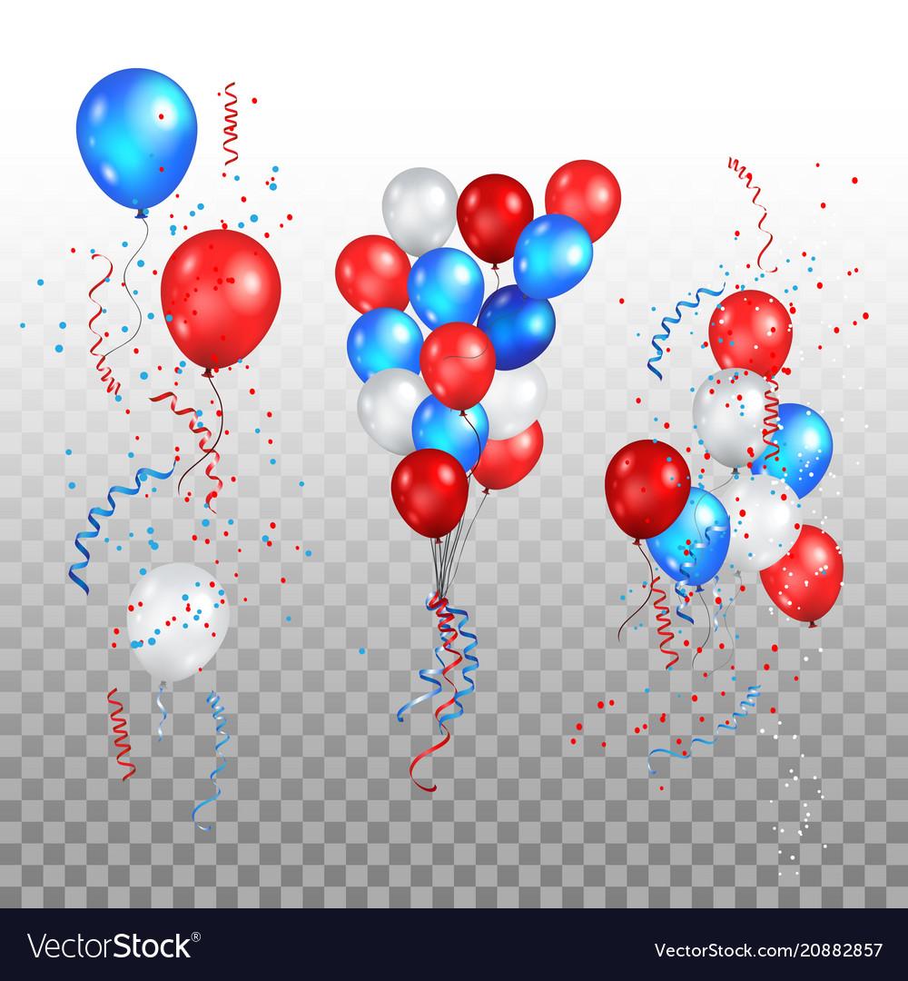 Holiday balloons set