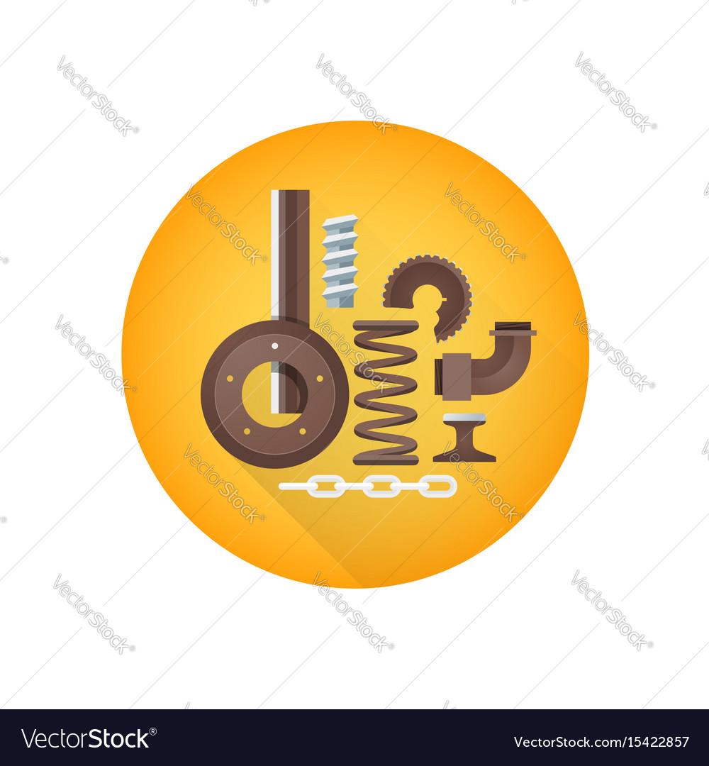 Metal scrap waste icon
