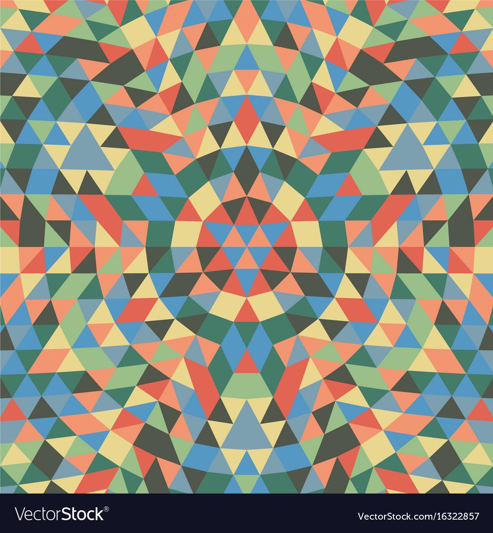 ae41196038d77 Round geometrical triangle mandala background Vector Image