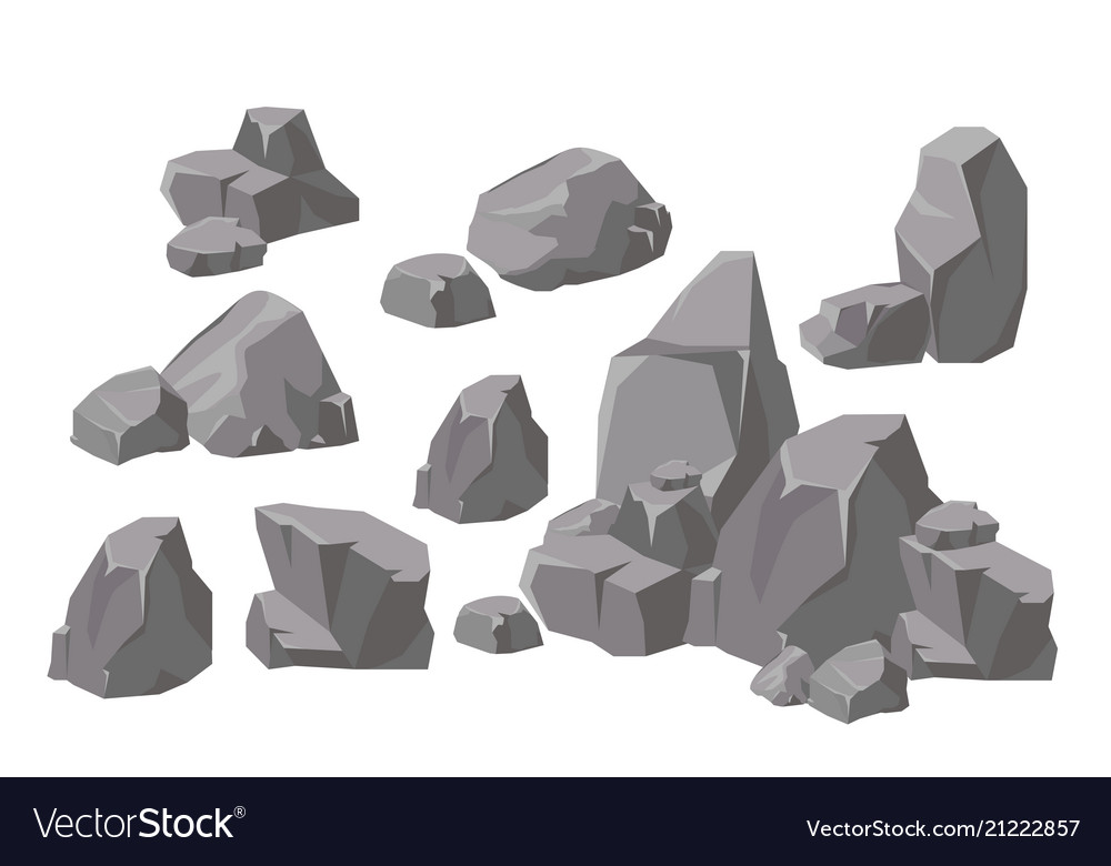 Set of rocks and stones