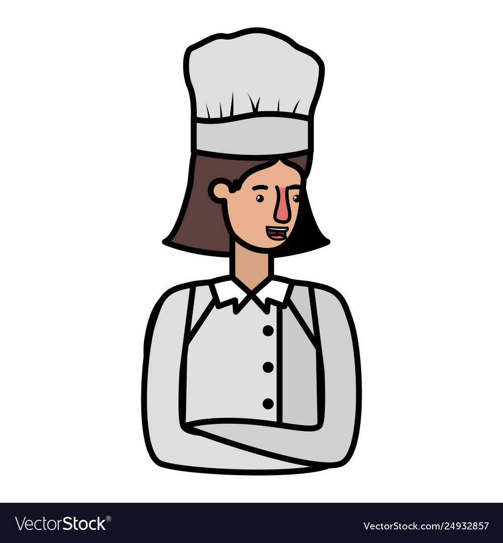 Young woman cook avatar character