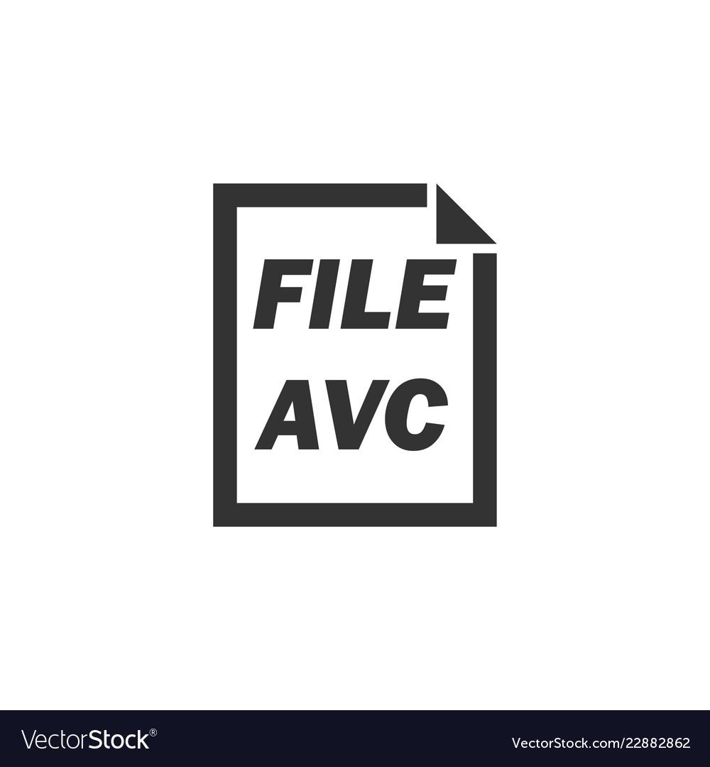 Avc file icon flat