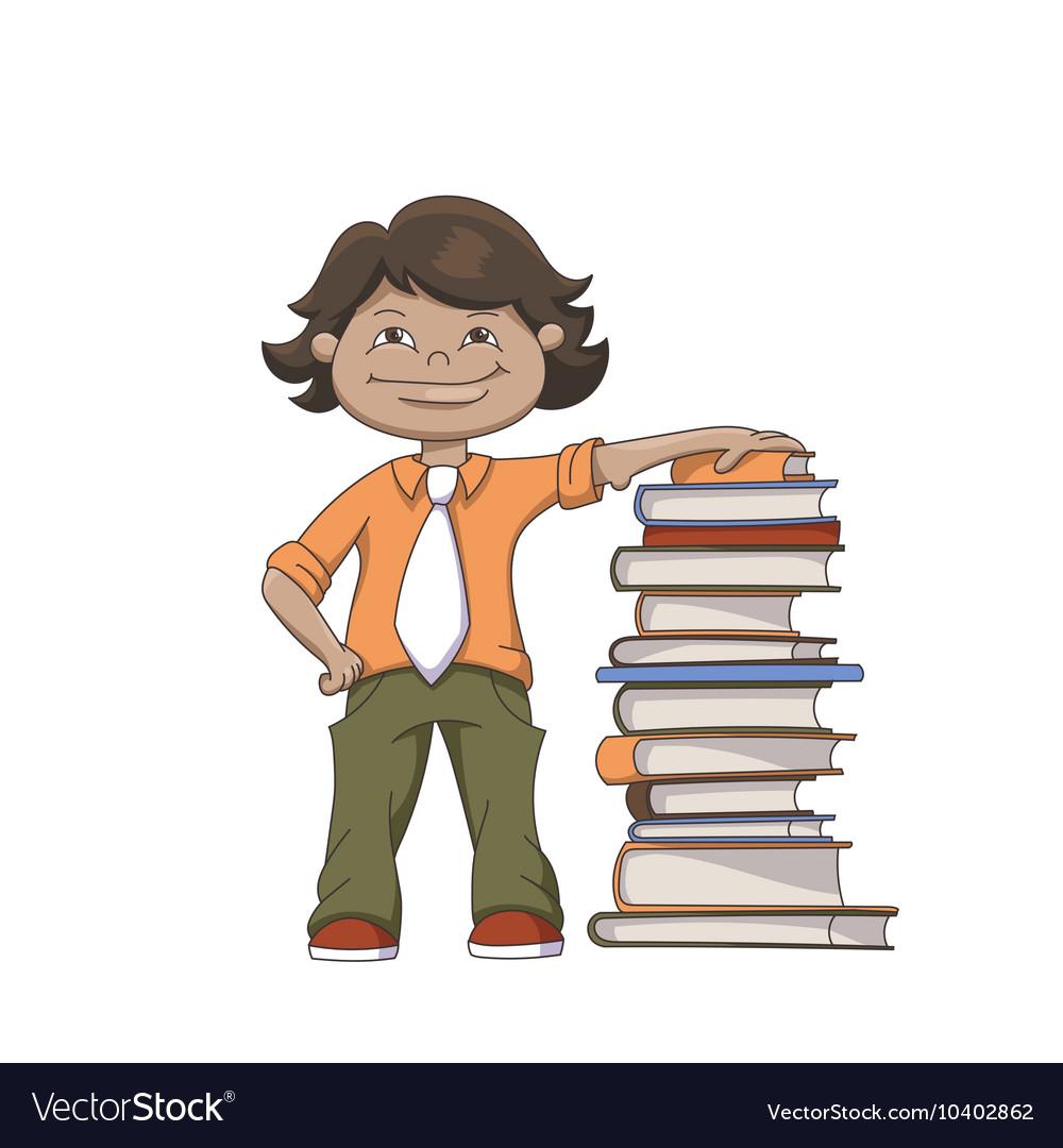 Cartoon School Boy