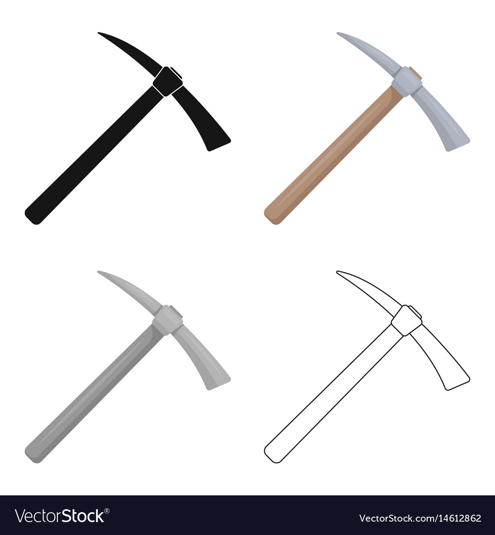 Iron pick with wooden wooden handle the criminals