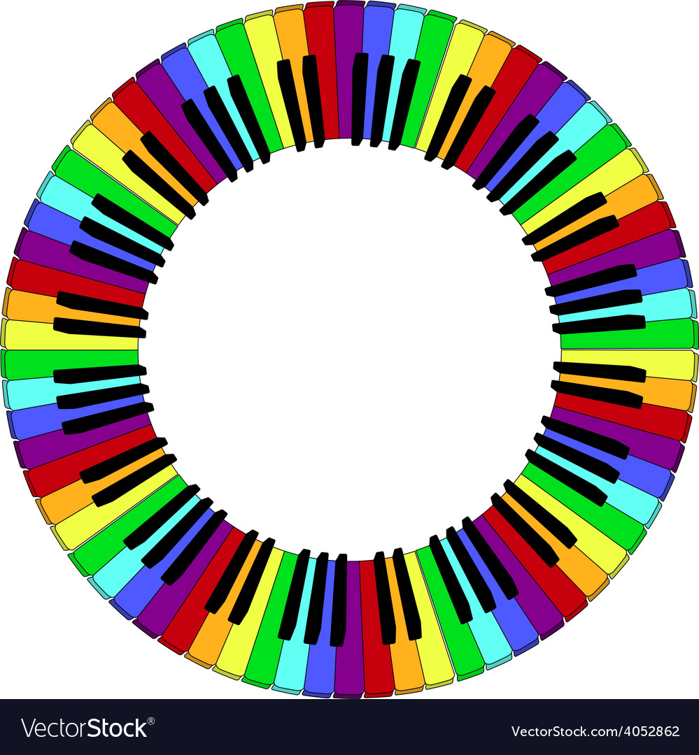 Round piano keyboard frame