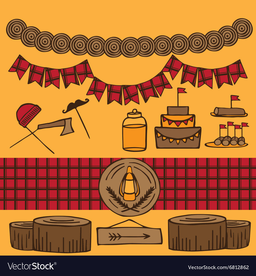 Rustic Woodsy Outdoor Lumberjack party ideas